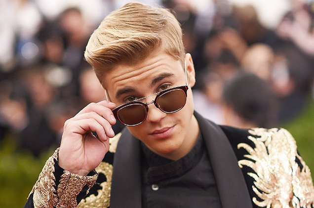 Justin Bieber attends the 'China: Through The Looking Glass' Costume Institute Benefit Gala at the Metropolitan Museum of Art on May 4, 2015 in New York City.  DIMITRIOS KAMBOURIS/GETTY IMAGES