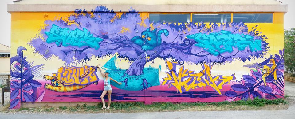 """Flying roots"" Collaboration by Artez / Lunar / Cazer / Mosk / Smack / Teoson (Photo Credit: Slaven Lunar Kosanovic)"