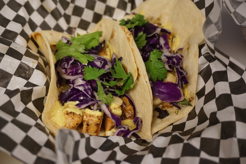 Chicken Curry Tacos. $8