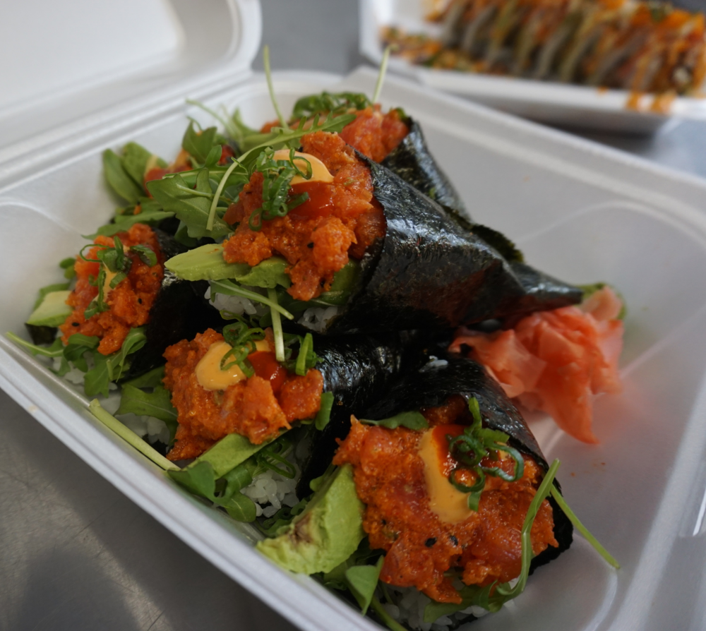 Spicy Tuna Hand Roll, $5 each