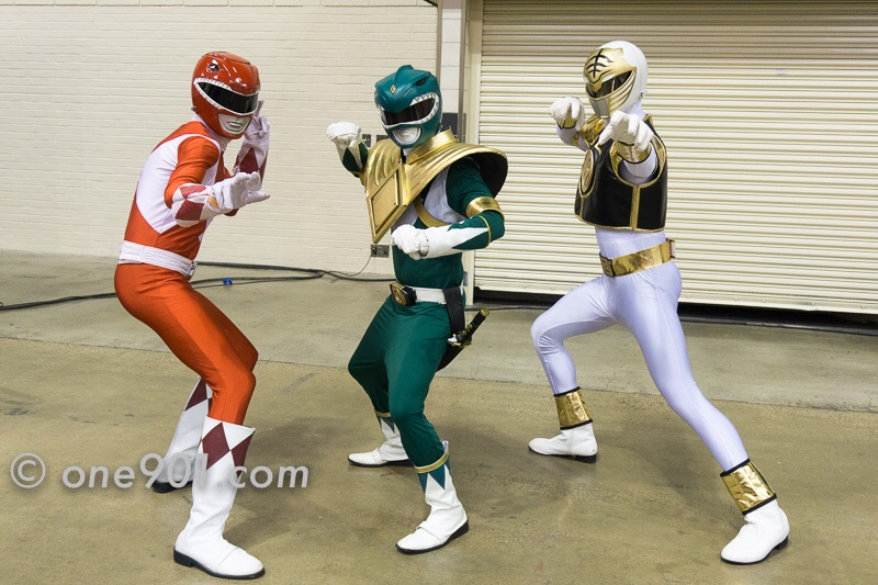 The Power Rangers showed up to kick some butt!!