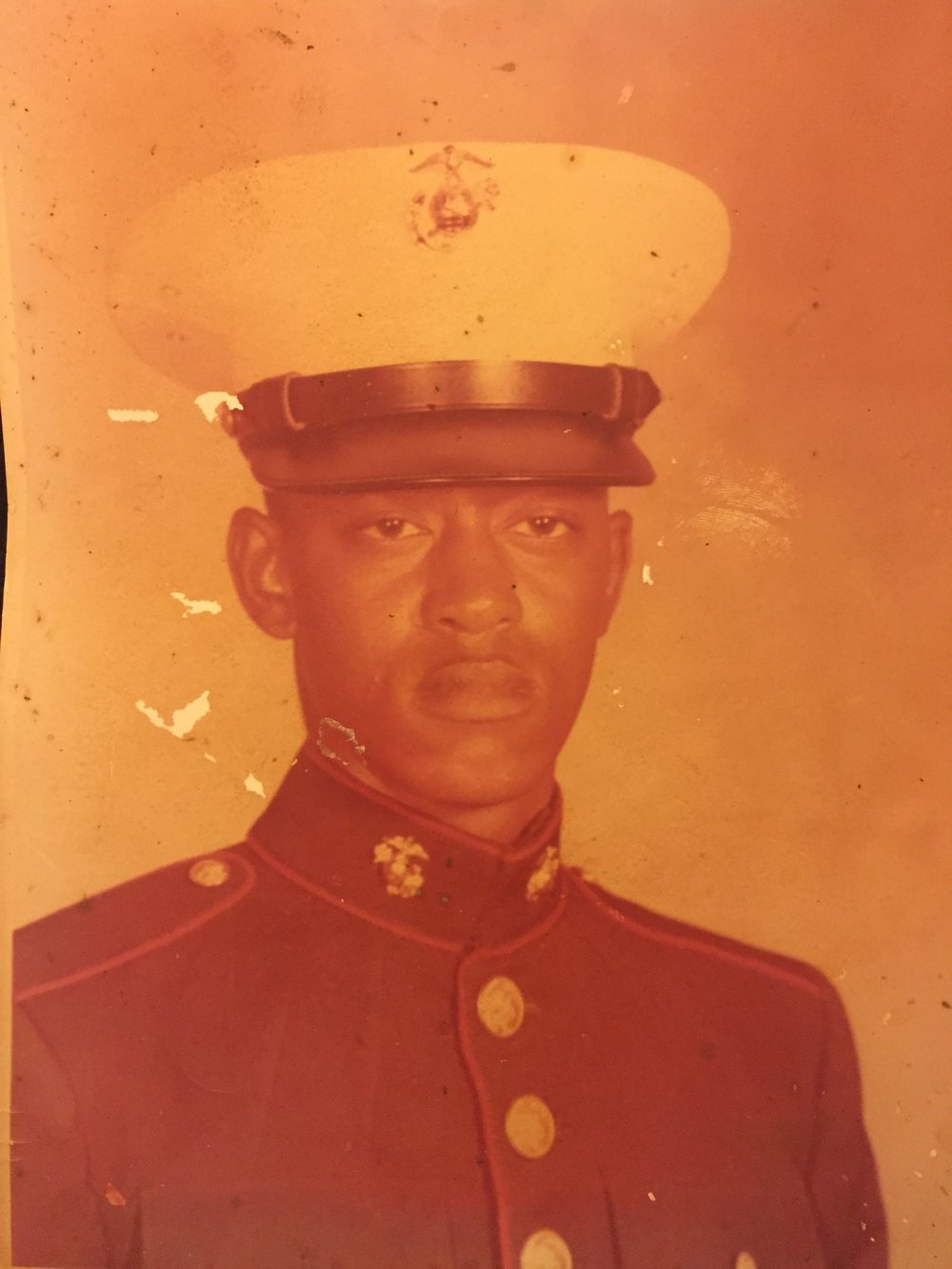 That's my dad in that uniform he was so proud of! Handsome guy, right?