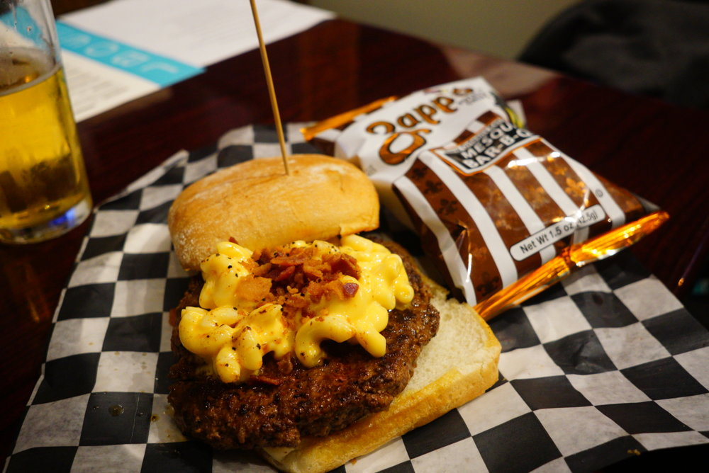 The mac and cheese burger