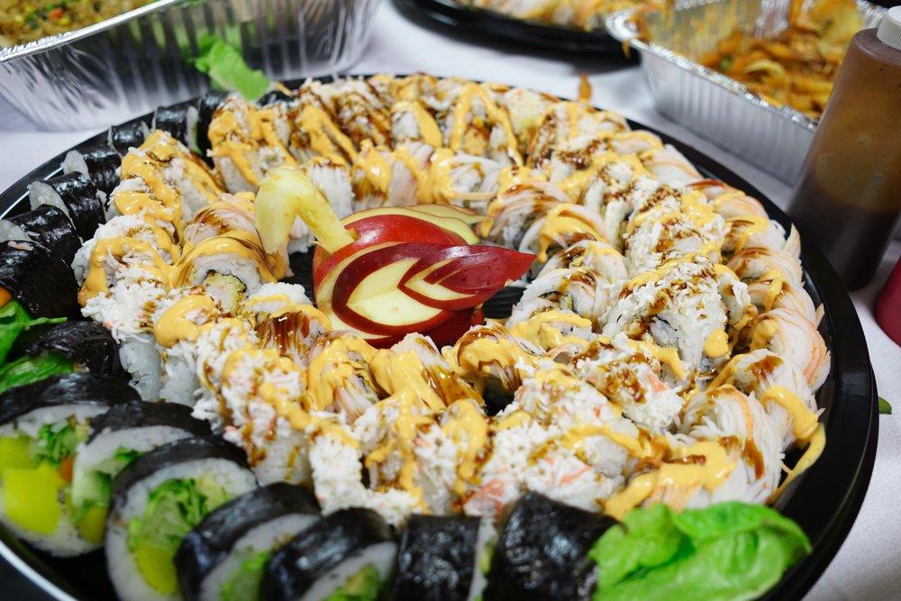 A sushi platter!