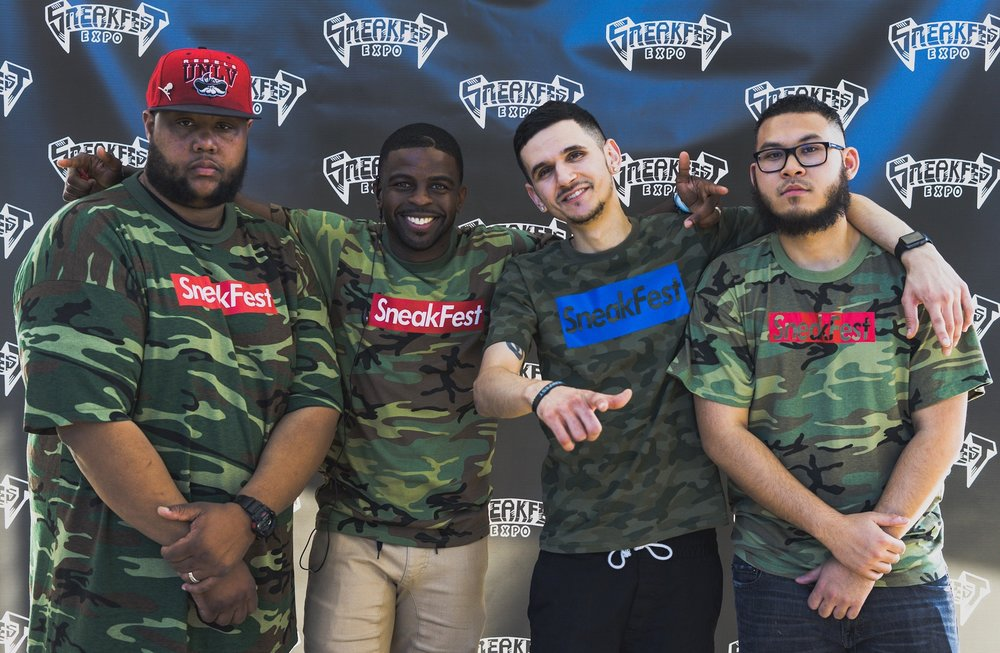 The creators of Sneakfest; RJ, Sherman, Adam, and Jay