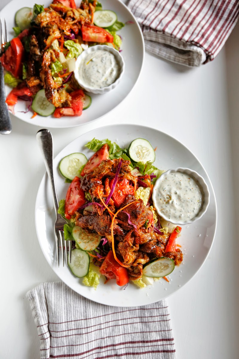"The Vegetarian BBQ ""Boss Man"" Salad with Yogurt Ranch Dressing"
