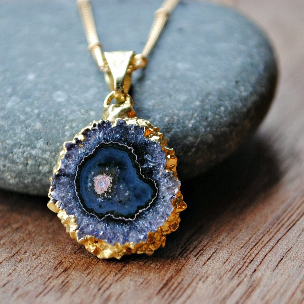 Raw Amethyst Necklace ($95)