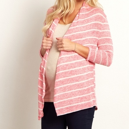 Knit Cardigan, Pink Blush