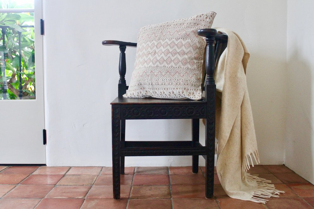 Brocade Pillow and Wool Blanket.jpg