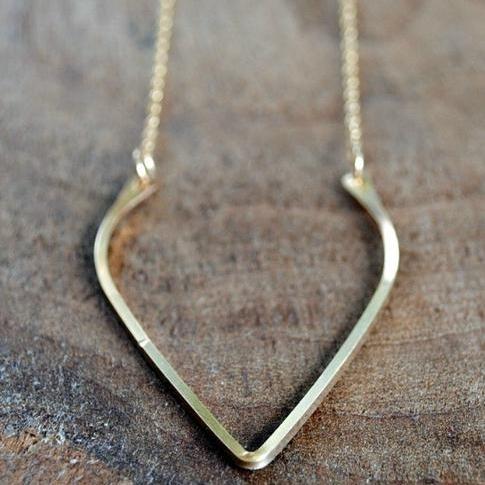 Wishbone Necklace, Tiffany Anne Studios