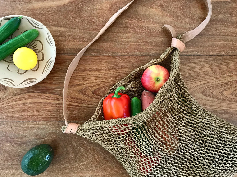 Handwoven Market Bag, Shop Materia