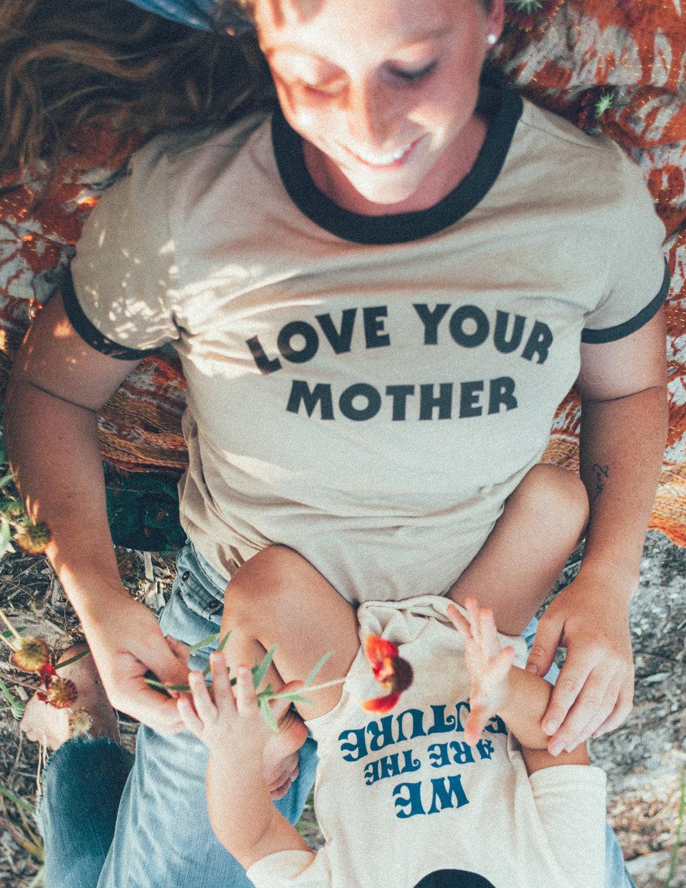 Love Your Mother Tee (Bee & Fox)