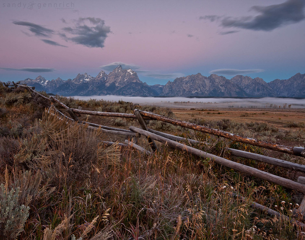 Grand Tetons at Dawn - Grand Teton National Park - Wyoming