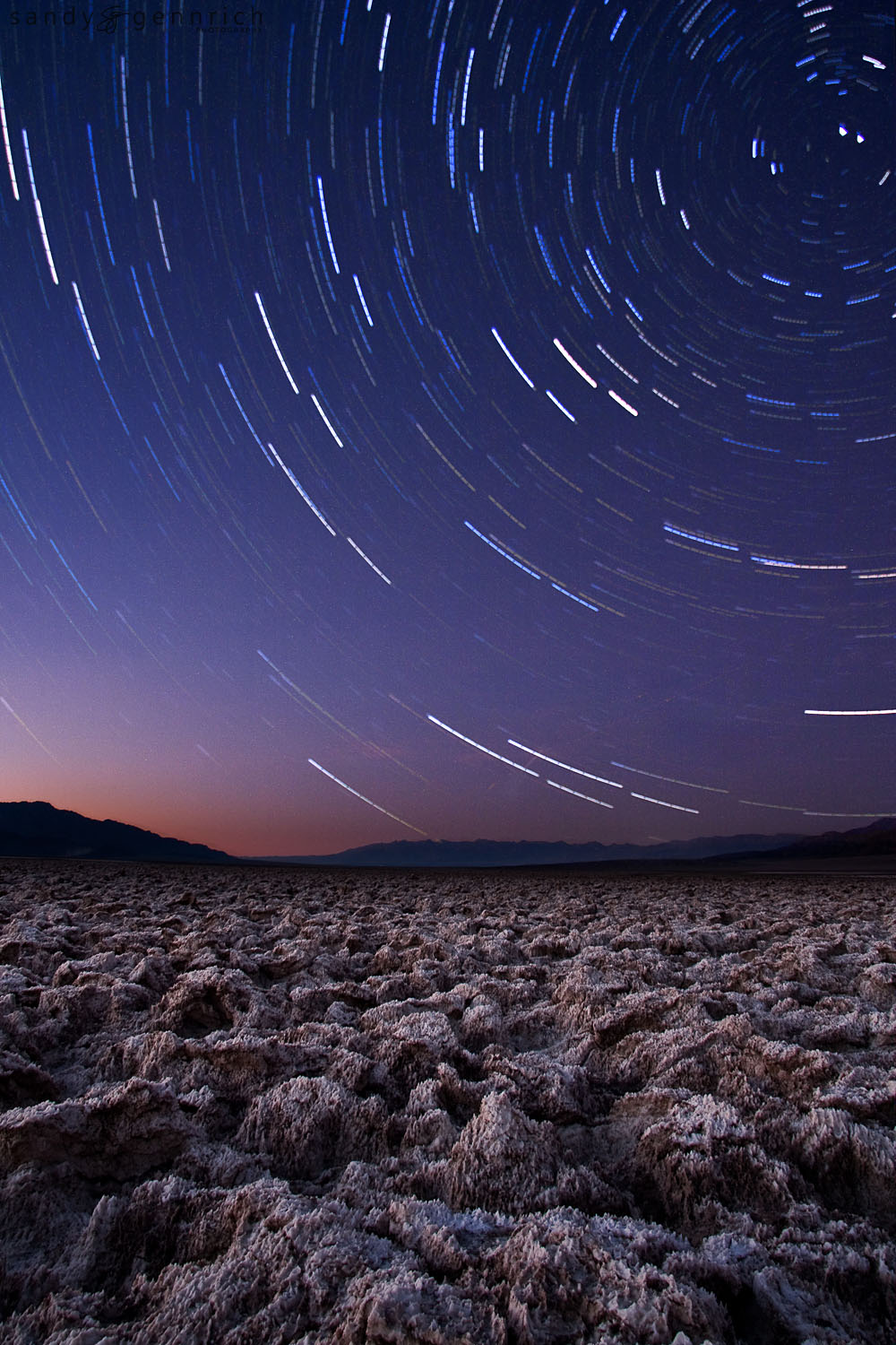 Startrails - Devils Golfcourse - Death Valley National Park