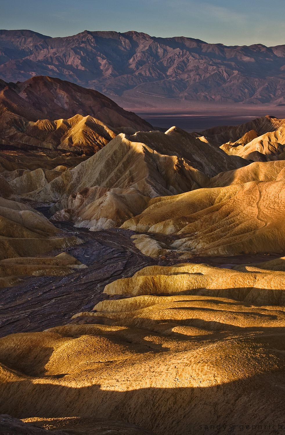 Sunrise at Zabriskie Point - Death Valley National Park