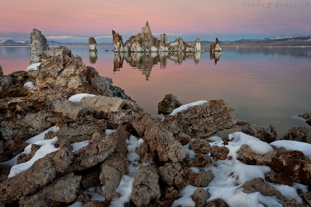 Winter Relfections - Mono Lake - Lee Vining - CA