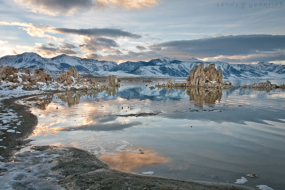 Winter Sunset at  Mono Lake - Lee Vining - CA
