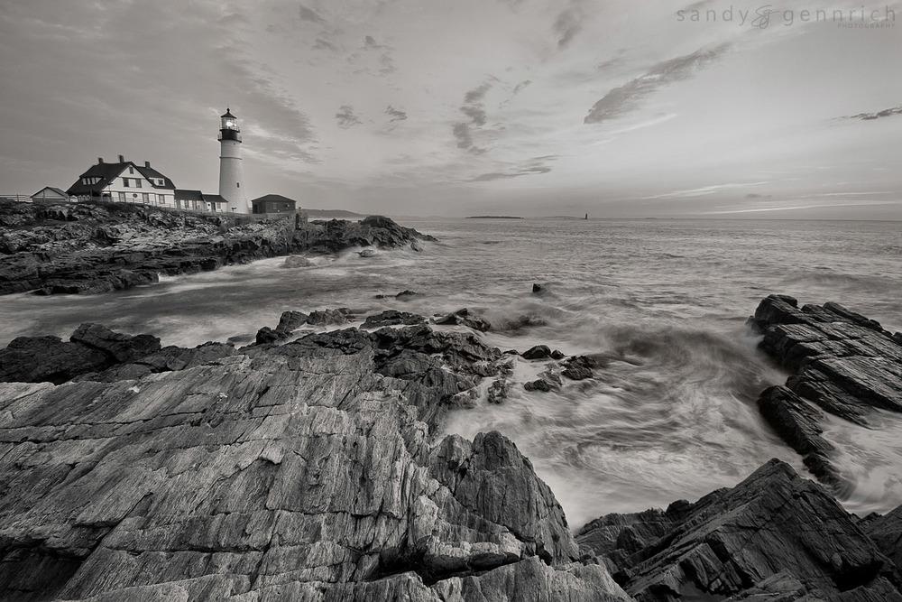 Surf - Portland Head Lighthouse-Cape Elizabeth - Maine