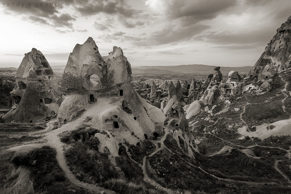 Well Worn Paths of Ancient Times - Cappadocia - Uchisar - Turkey