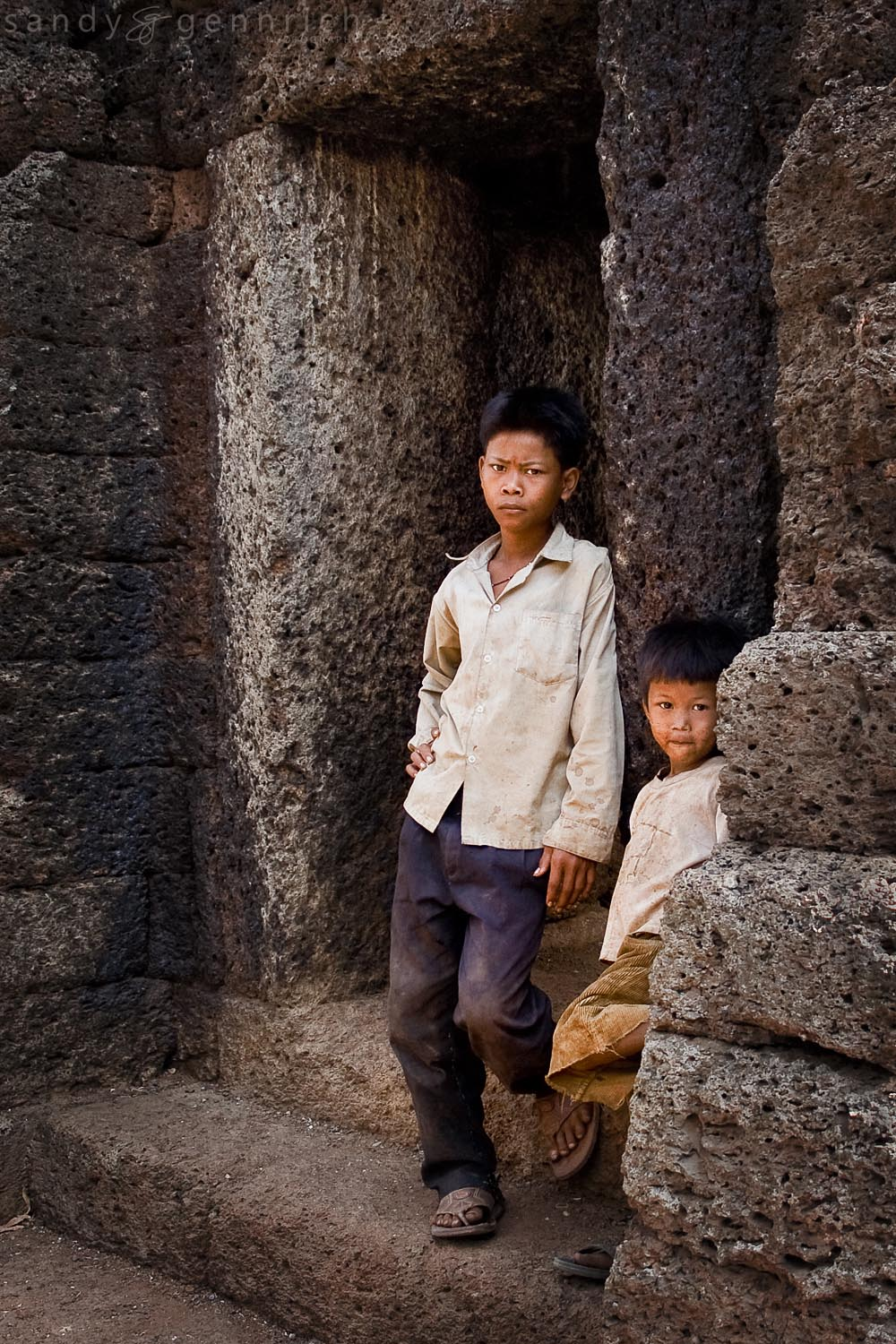 Two Boys - Wat Nokor - Cambodia