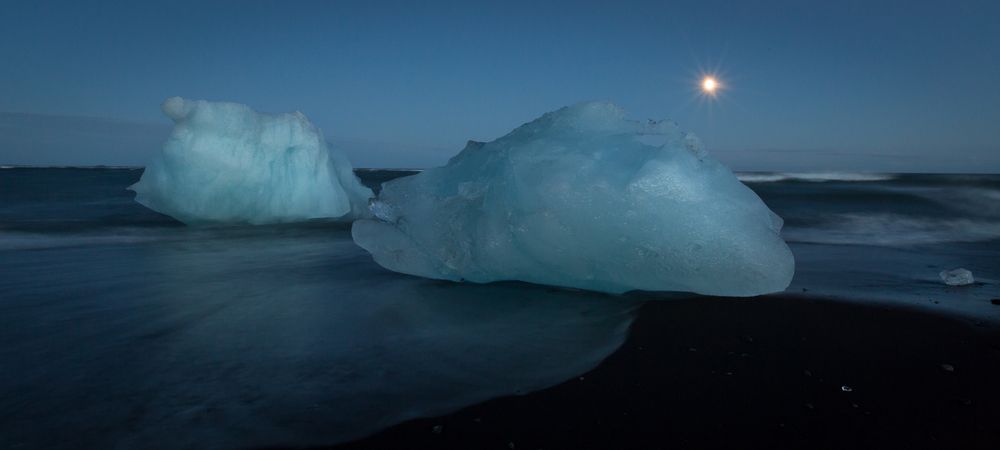 Under a Full Moon - Jokulsarlon - Skaftafell - Iceland