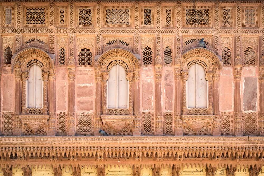 Jaalis-Mehrangarh Fort-Jodhpur-India