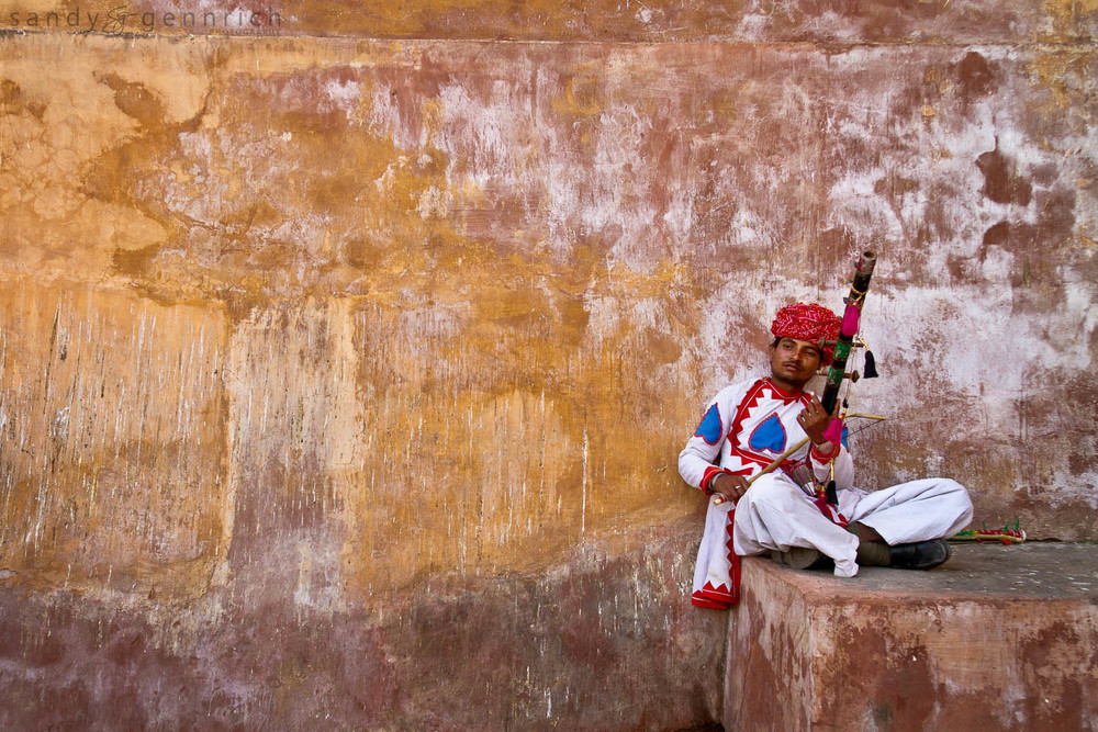 Musician - Amber Palace - Jaipur - India
