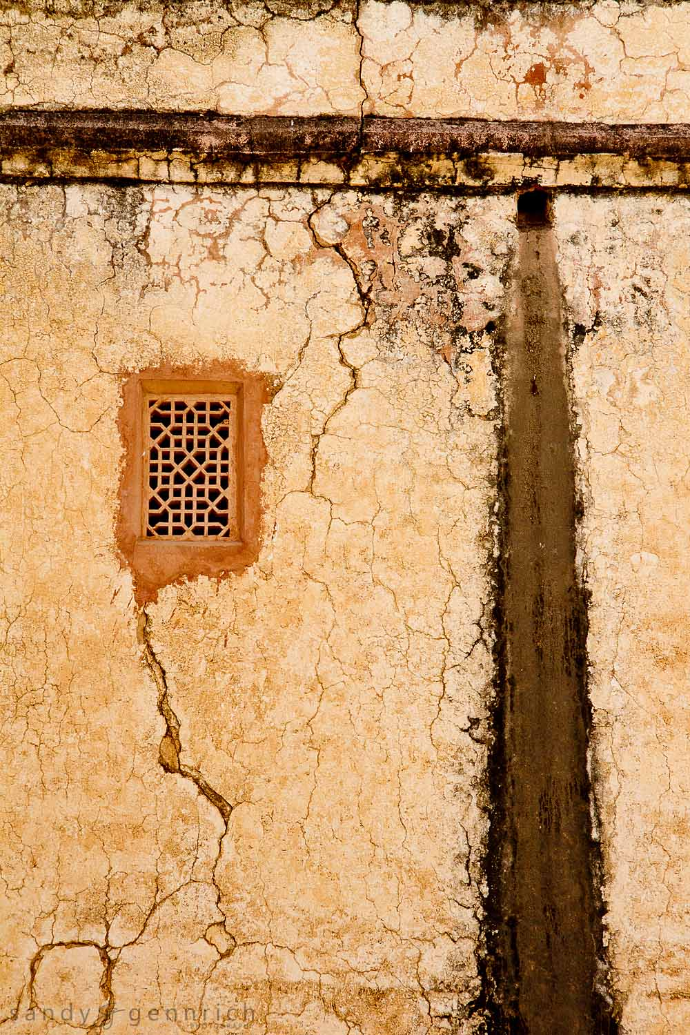 Veined Wall - Amber Fort - Jaipur - Rajastan - India