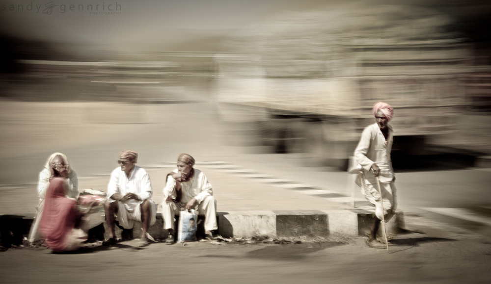 Four Men and a Woman - India In Motion - Udaipur - India