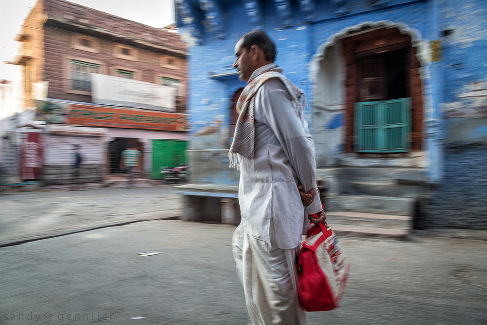 Man With Red Bag-India in Motion-Jodhpur-India