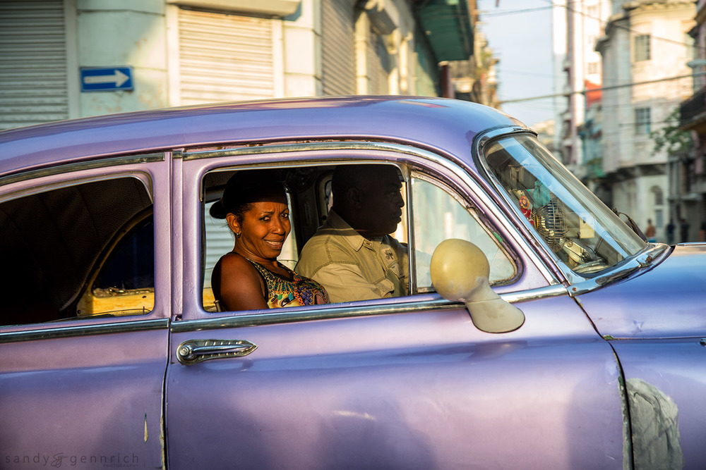 Driving Through Town-Cuba-Havana