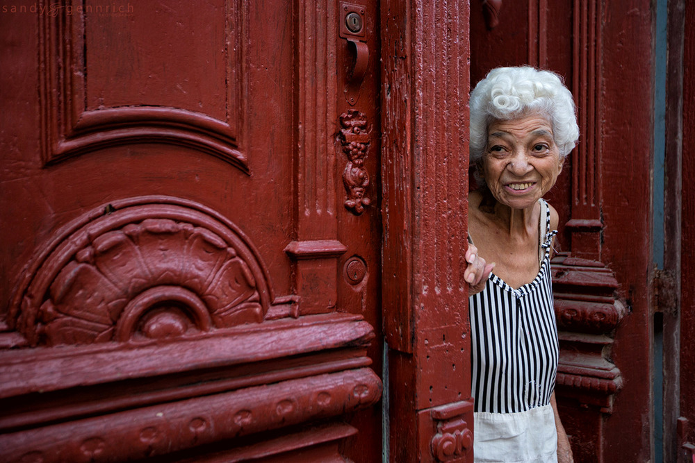 In the Doorway-Cuba-Havana
