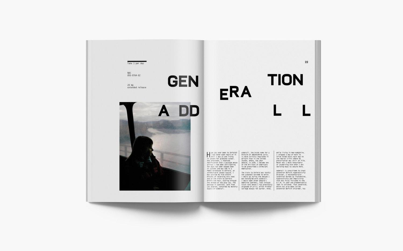 Generation Adderall >> Magazine Redesign Zach Haynberg