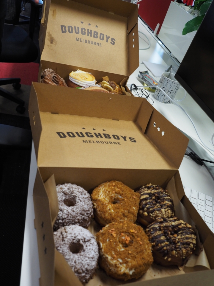 Doughnuts accompanying this hackday