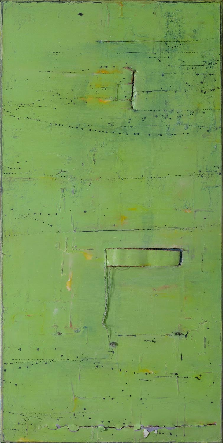 Letter B Page 54 Line 9 Word 4, 2015, Oil on canvas, 24x48""
