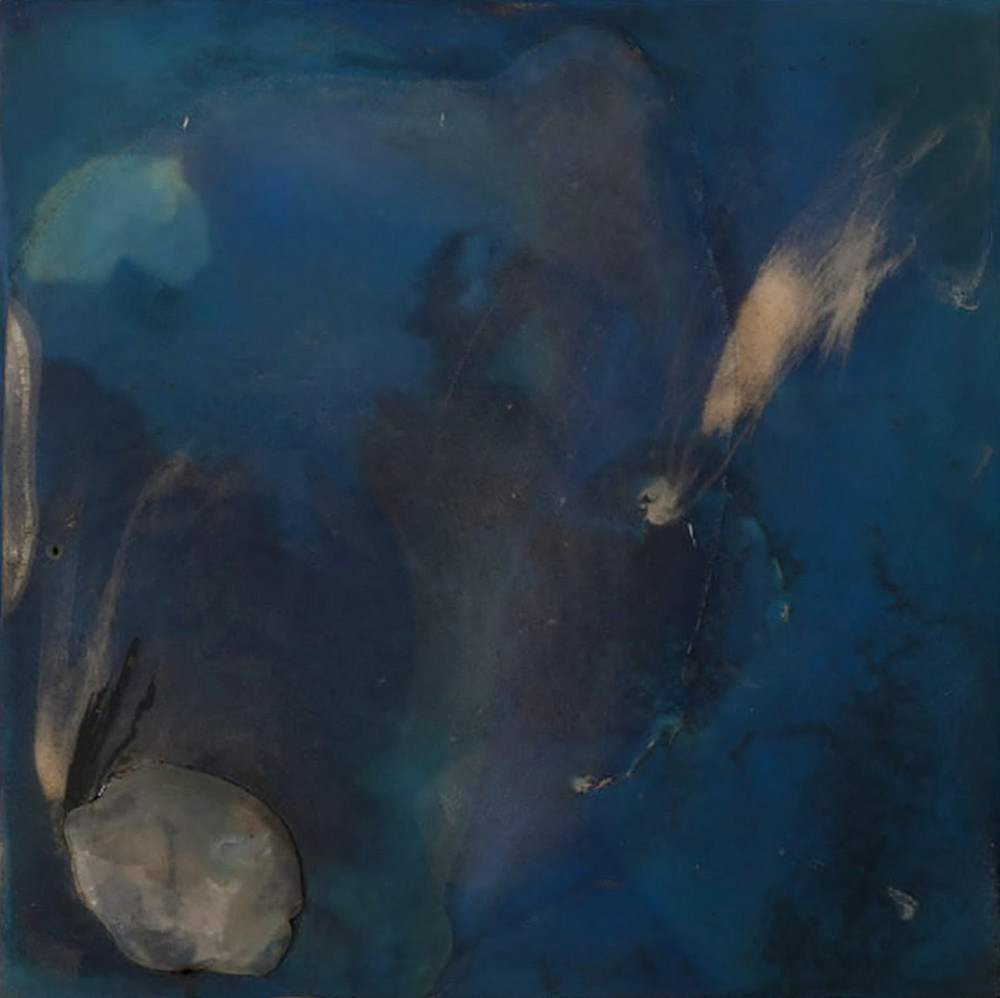 Sounded, 2011, Oil and resin on panel 32x32""
