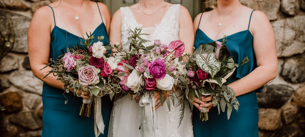 Bouquets with a Conservatory vibe