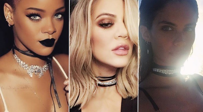 Celebrities wearing Chokers. Picture taken from    instyle.com