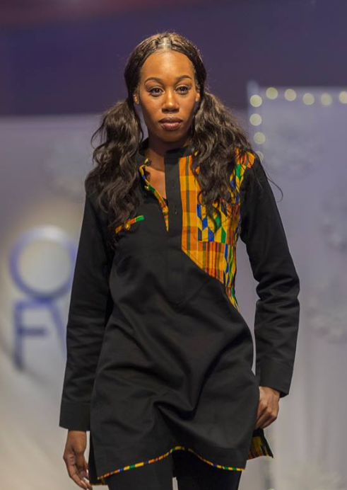 Felicia Walker in a Kente Top by A.K. Classik