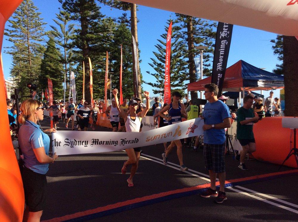 Lara Tamsett, winner of 2016 7km Sun Run
