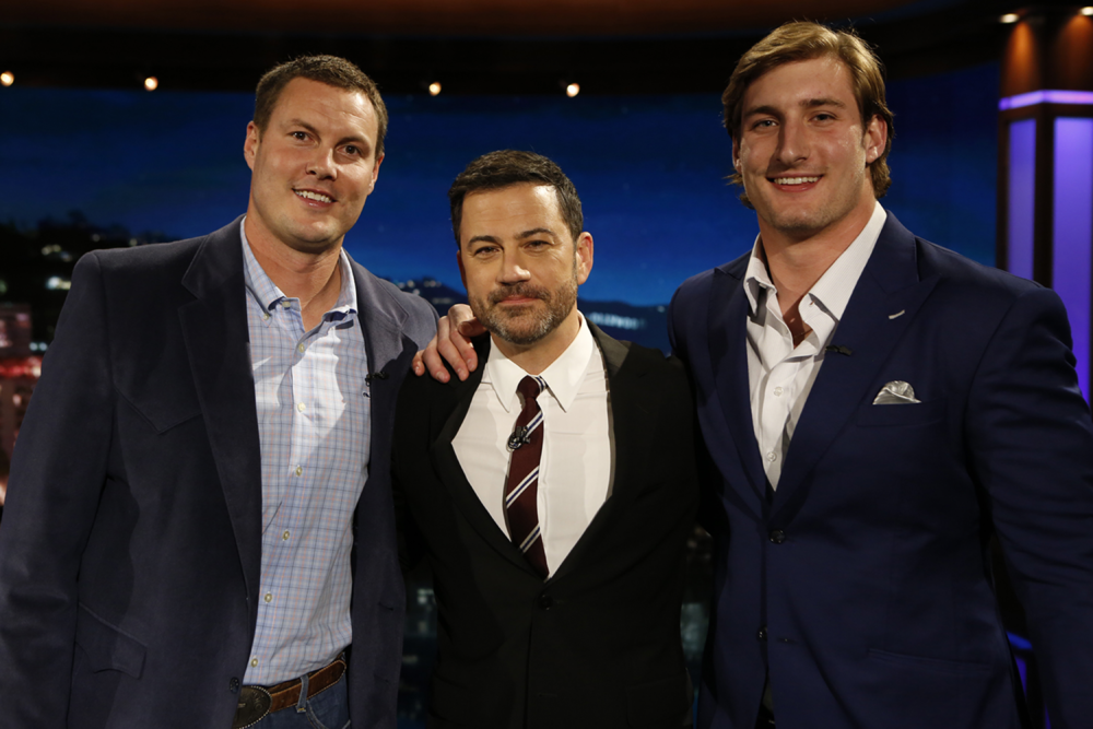 Joey Bosa on Kimmel in his Pantheon