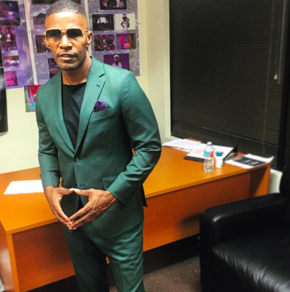 Jamie Foxx in his custom Pantheon