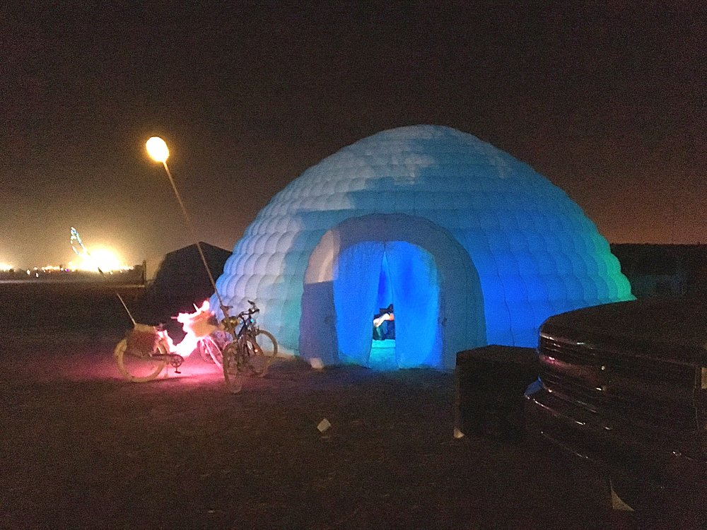The Immersive Igloo at Burning Man 2016