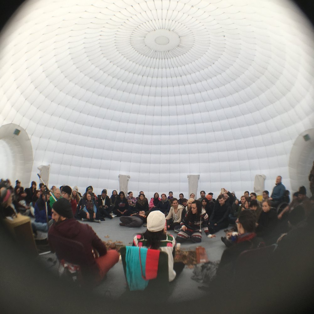 Inside the Igloo during the daytime