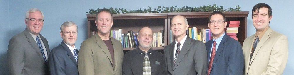 Elders (Stan, Scott), Deacons (Dave, Gary, Jim, Ken), and Preacher (Caleb)