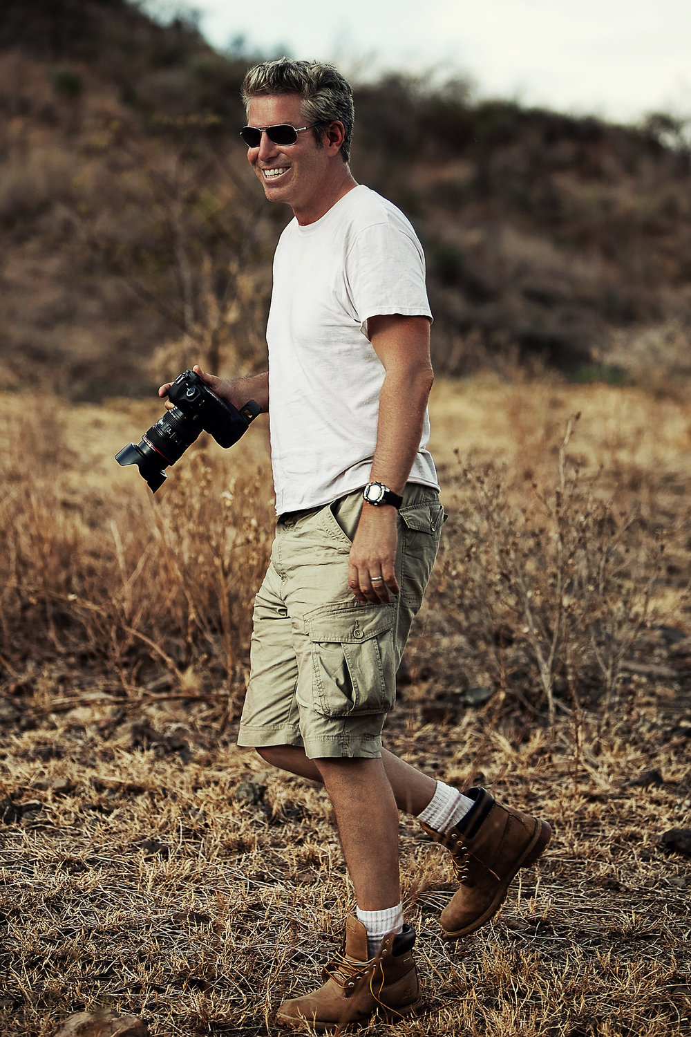Kevin in Ethiopia on a charity shoot.
