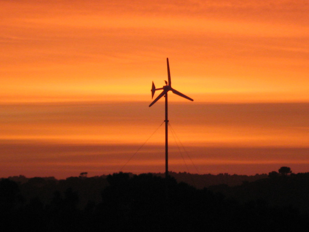 Wind Turbine at sunset.JPG