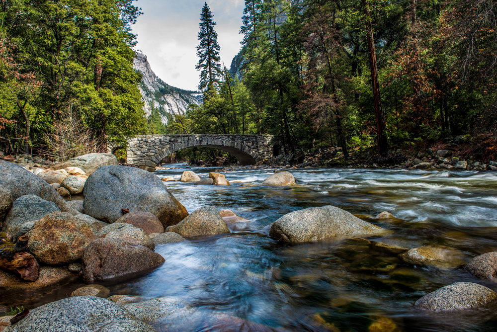 The Merced River by Happy Isles
