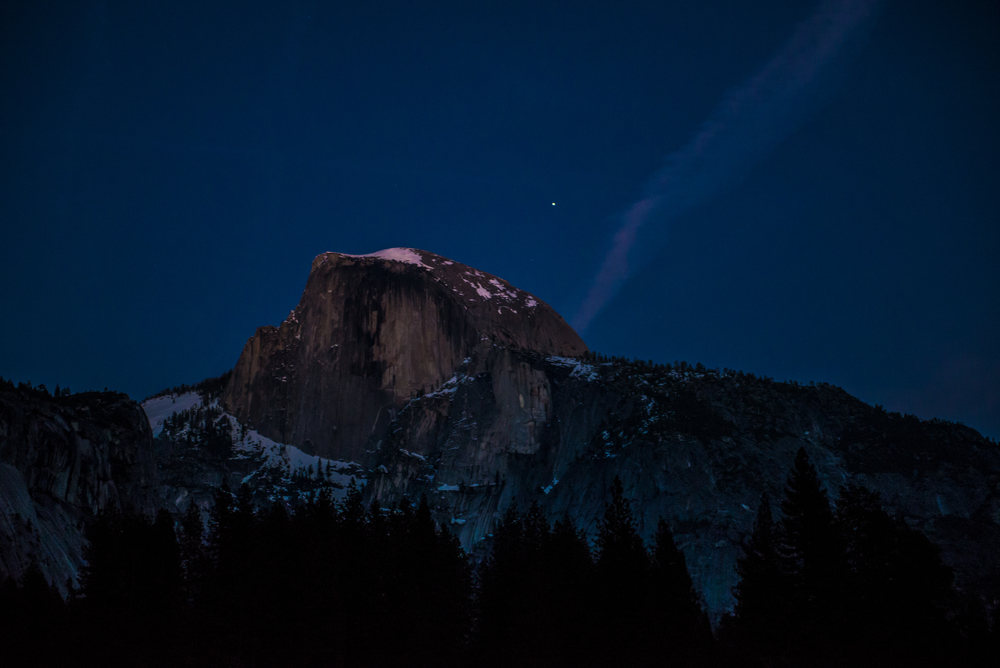 The last bits of light on Half Dome