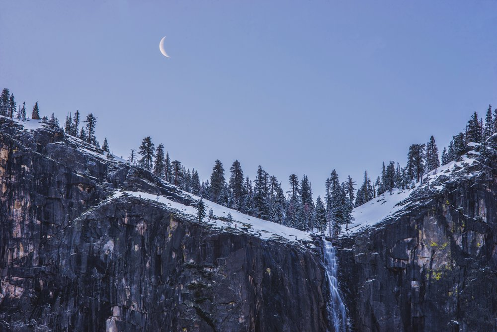 Moonset Waterfall